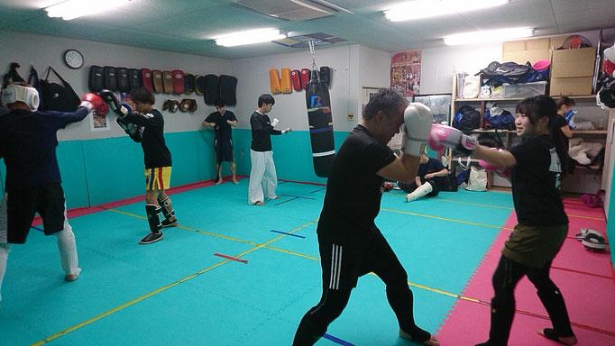 キックボクシング練習ピーク