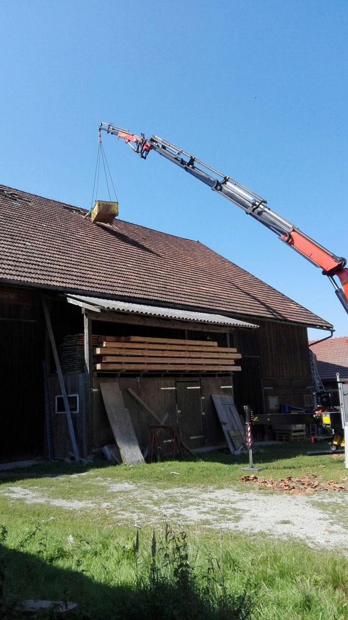 Dacharbeiten#Kran