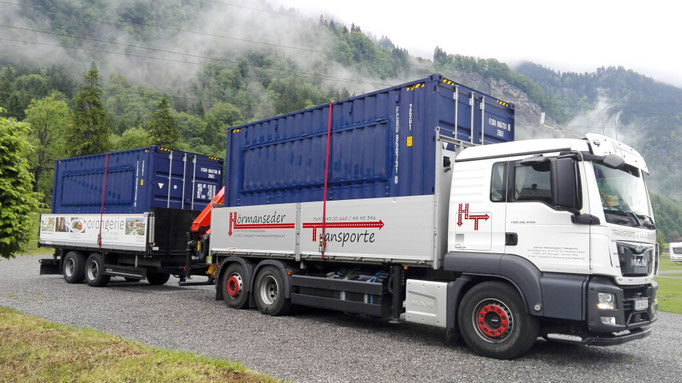 Containertransporte