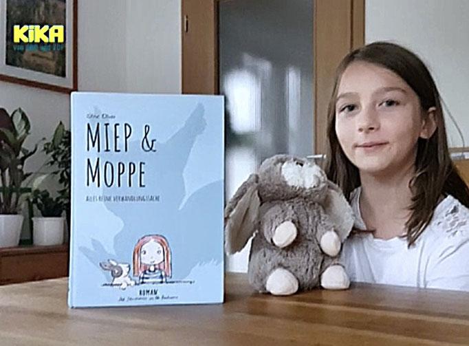 "Oktober 2019: KiKa-Buchtesterin empfiehlt ""Miep & Moppe"""