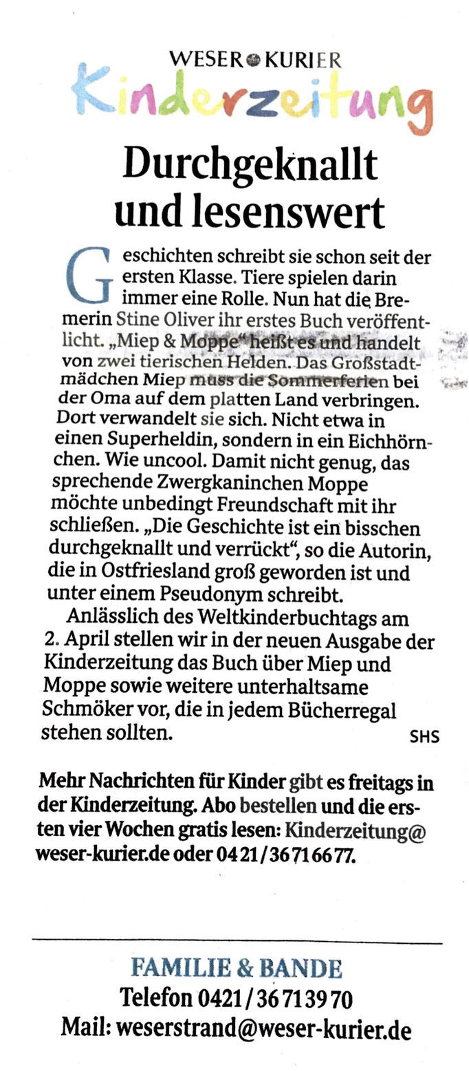 Weser-Kurier/Kurier am Sonntag (31.03.2019)