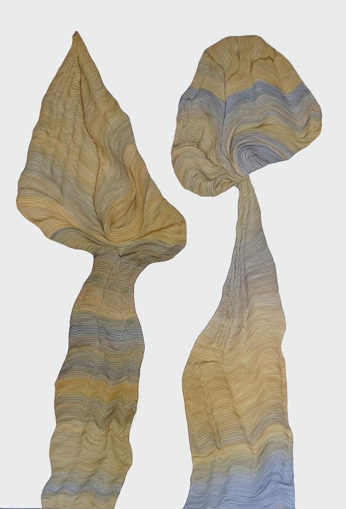 zwei Bäume sind schon ein Wald3, drawing ink on paper, 100 x 70 cm