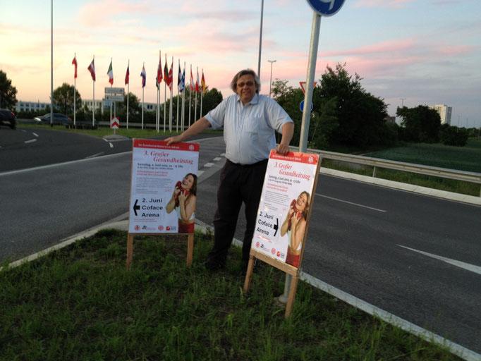 PR+Plakatierung machen mobil zum Gesundheitstag