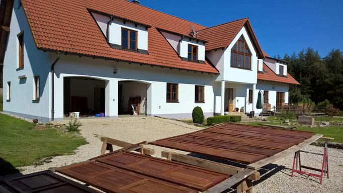 neu aufgebaute, nachhaltige Holzoberfläche
