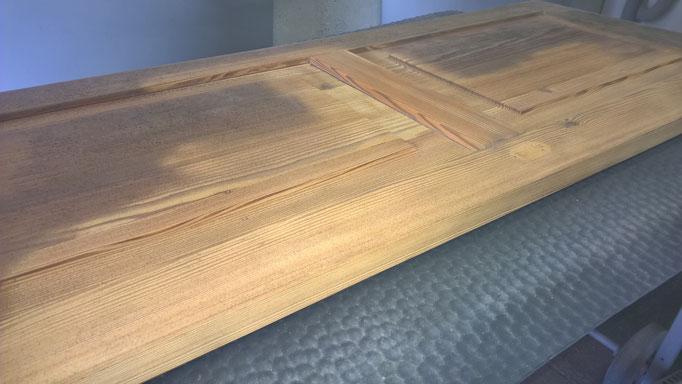 Restaurierung / Sandstrahlen mit Bicarbonat & Schleiftechnik / nachhaltige Holzoberfläche