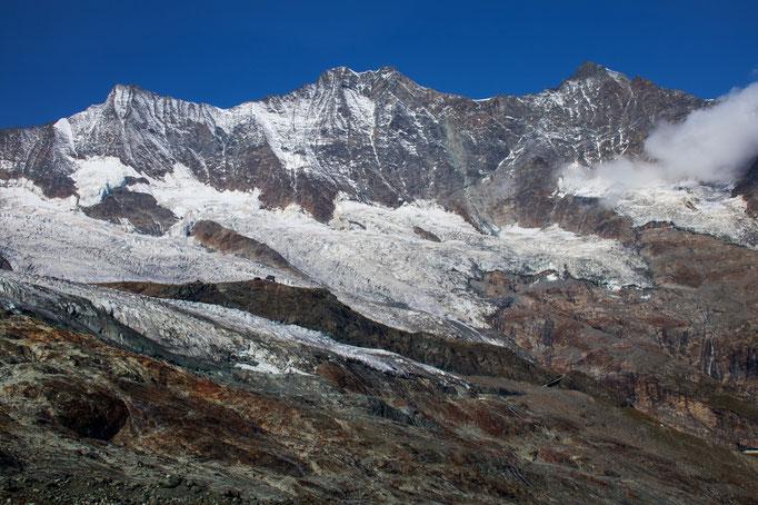 Täschhorn 4491 m, Dom 4545 m und Lenzspitz 4294 m