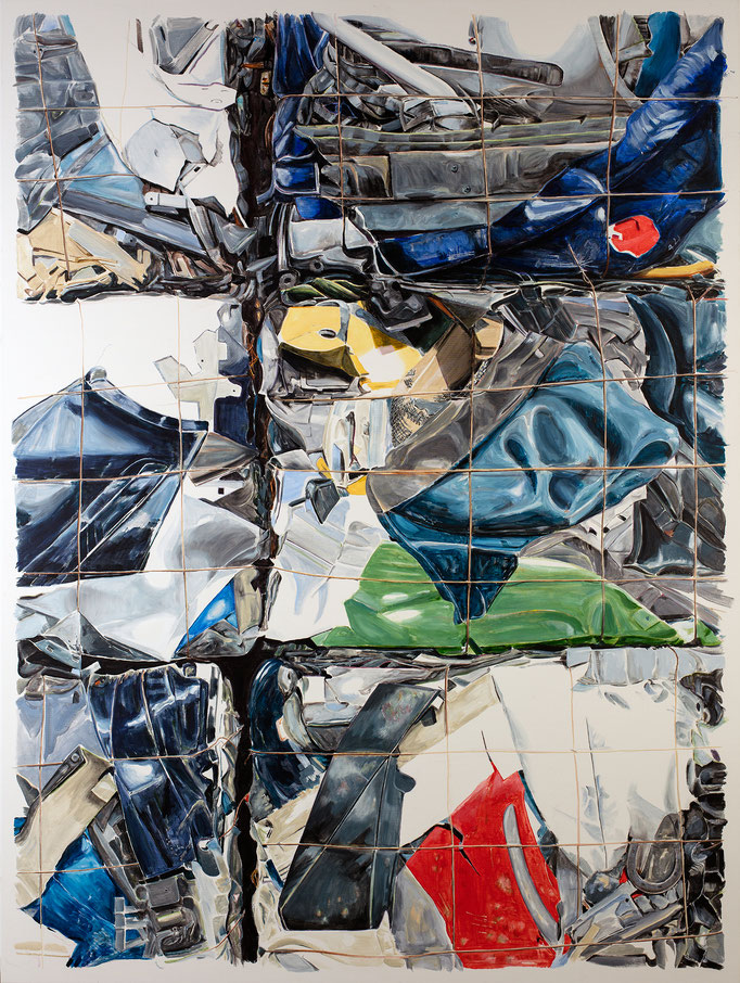 THE HAPPINES OF JOHN CHAMBERLAIN 2016 Acryl auf Leinwand 200 x 150 cm