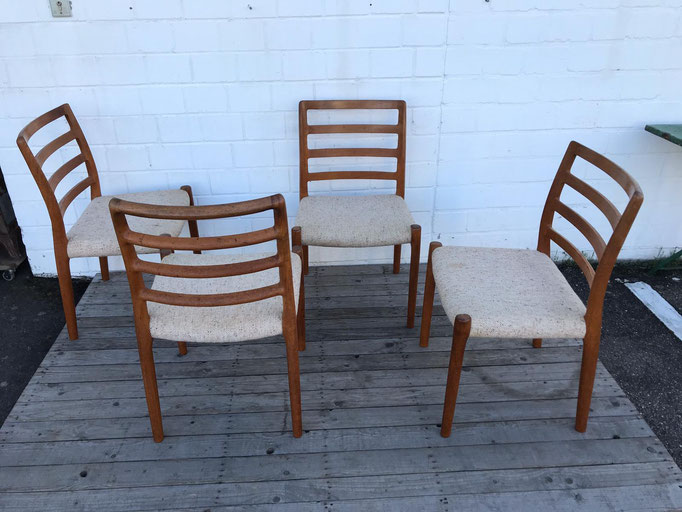 Midcentury Niels O Moller No. 85 Chair, Set of Four