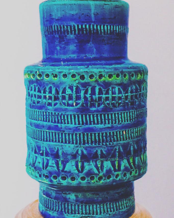 Bitossi Rimini Blue Vase, Aldo Landi