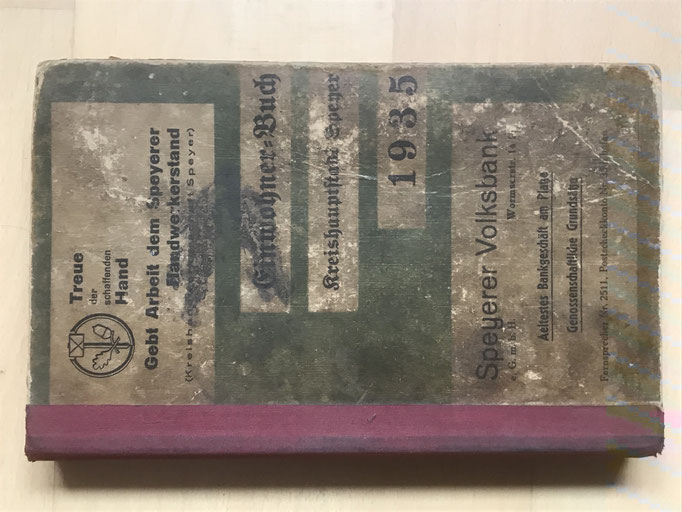 Adressbuch Einwohnerbuch der Kreishauptstadt Speyer von 1935
