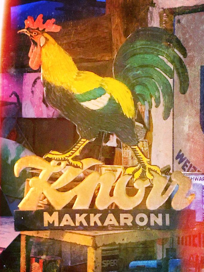 Knorr Makkaroni Werbung aus Pappe. ca 1910