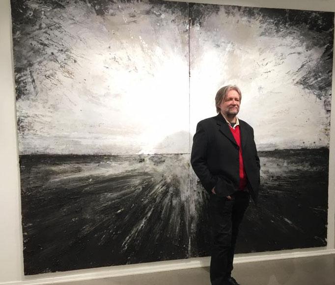 Mikko Paakkola,   Acrylic, pigments and oil on plexiglass, 240x200 cm
