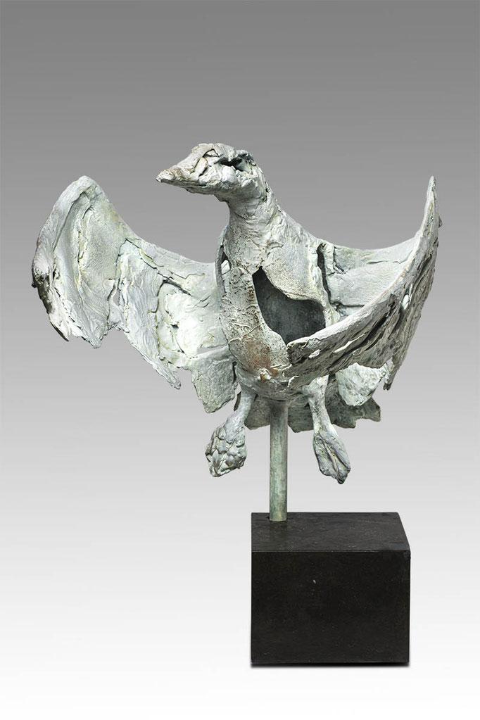 Wilma Hoebee, bronze, Rietgans, 50x56 cm. Limited Edition 4. EUR 5000