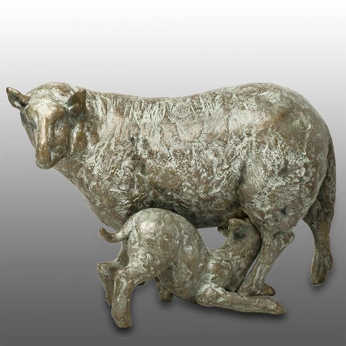 Wilma Hoebee, bronze, schapen
