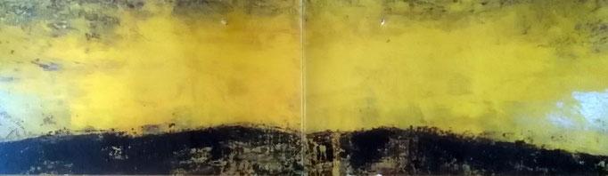 120 x 480 cm acrylic oil and pigmants on canvas 9600 €