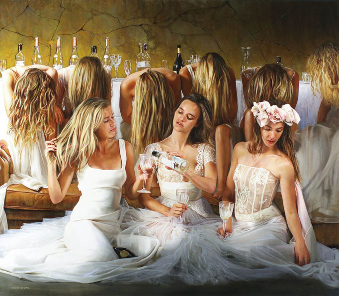 Tos Kostermans, Ladies After Party, 115 x 100 cm