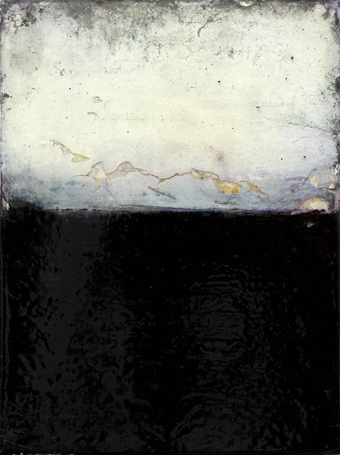 Mikko Paakkola,   Acrylic, pigments and oil on plexiglass, 18x 24 cm