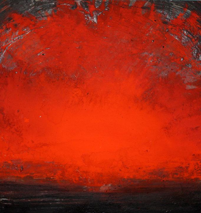 100 x 100 cm acrylic, oil and pigments on aluminium 4000 €