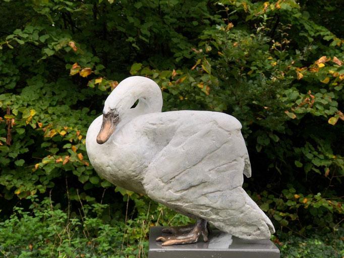 Wilma Hoebee, bronze, White Swan