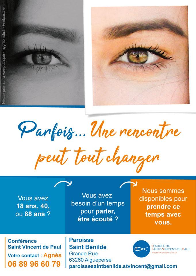 Création d'un flyer pour la conférence Saint Vincent de Paul (Paroisse Saint Bénilde)