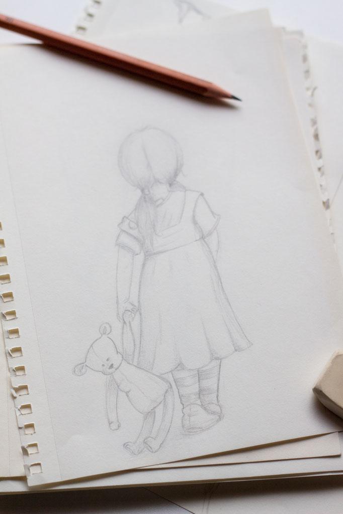 Bild: meine Zeichnung, Original: unbekannt; Pinterest: https://www.pinterest.at/pin/617626536367492403/