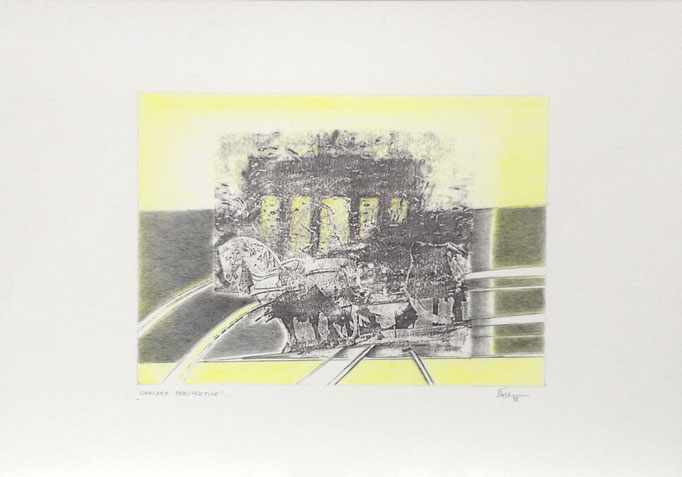 Unklare Perspektive, Monotypie, 50 x 35 cm, 1998. (639)
