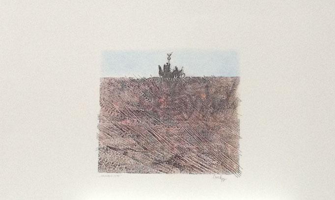 Spurensuche, Monotypie, 50 x 35 cm, 1998. (631)
