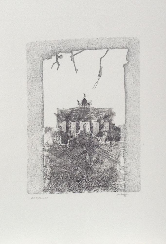 Recycling II, Monotypie, 50 x 35 cm, 1997. (643)