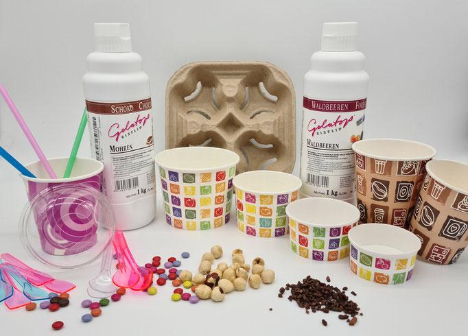 MONTI-GELATO Eismanufaktur / Produktion Speiseeis / Eisdielenbedarf / Verpacktes Eis