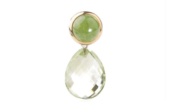 Oslo (12mm) mit Jade gef.,grün  € 485,00  mit Katharina (20x15)  Prasiolith   € 414,00