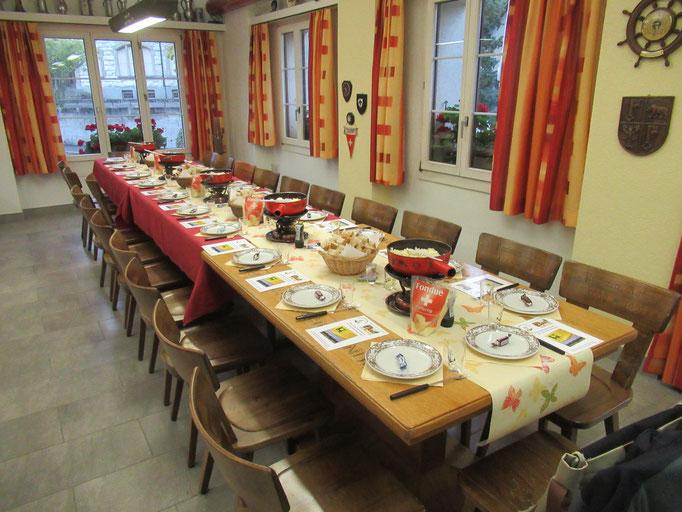 Alles bereit die Gäste können kommen