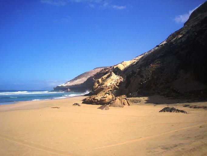 Einsamer Strandabschnitt