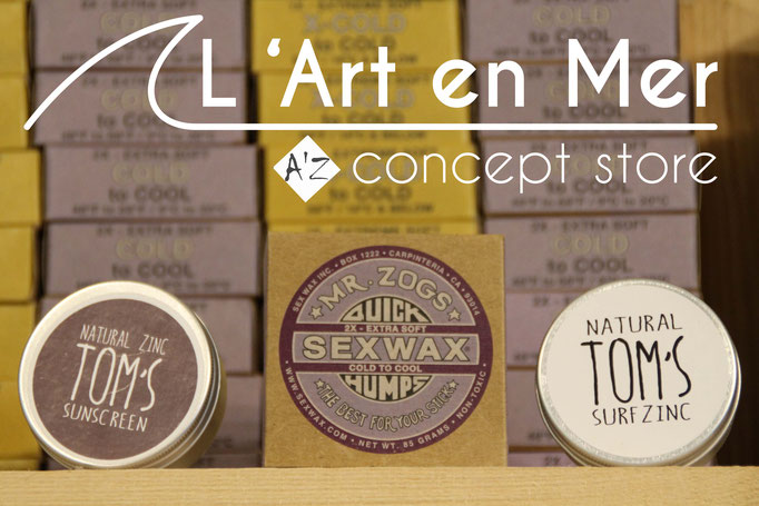 l'art en mer concept store surf shop les lecques sex wax mr zog