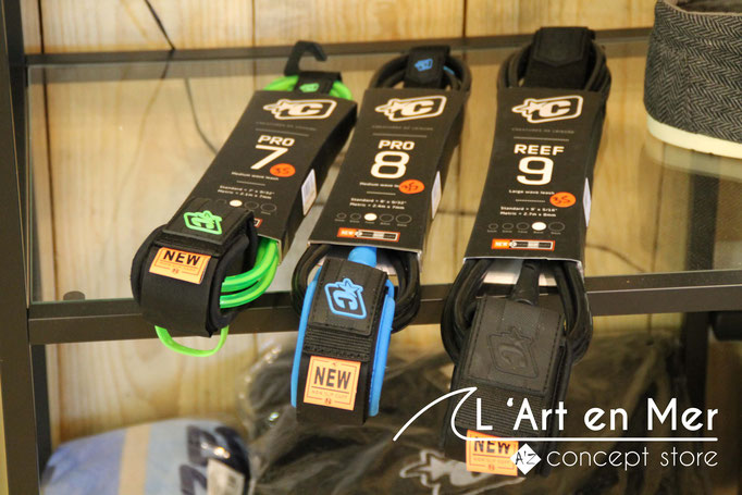 l'art en mer concept store surf shop les lecques leashes creatures
