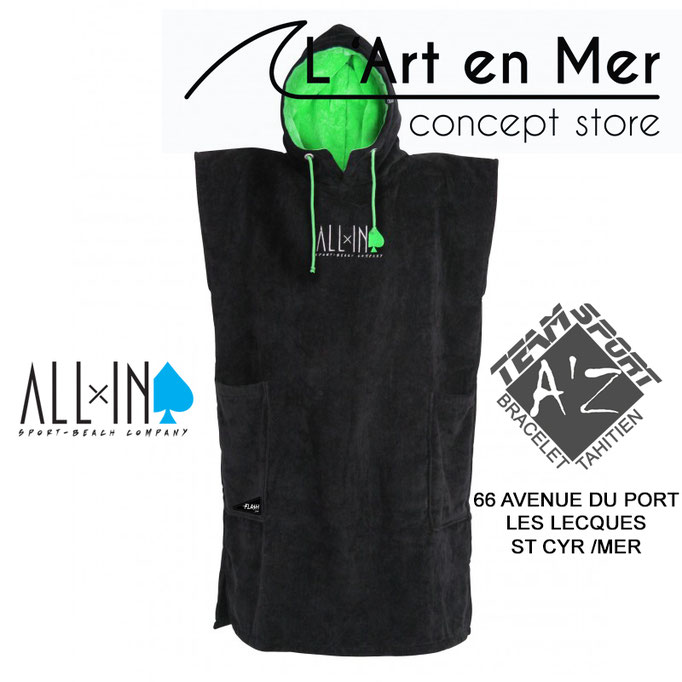 l'art en mer concept store surf shop les lecques ponchos all in