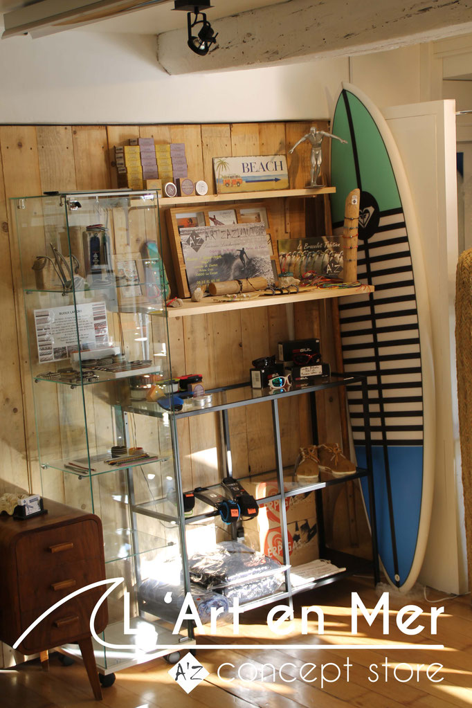 L'art en mer concept store surf shop les lecques