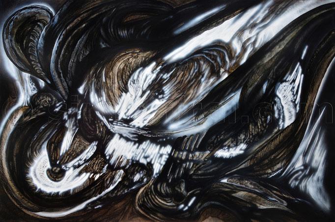 Untitled, 130 x 195 cm, Mischtechnik auf Leinen, 2016