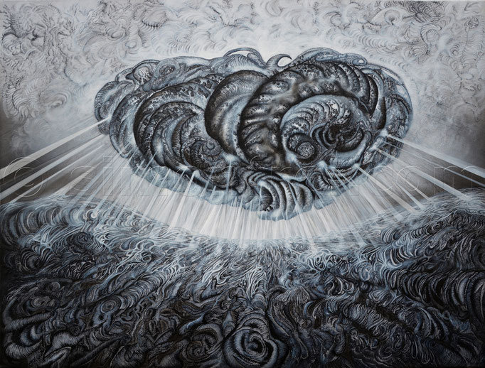 """""""Mysterium"""", 100 x 120 cm, Mischtechnik auf Leinen, 2012"""