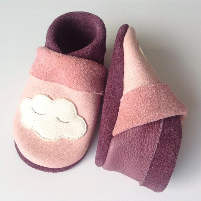 Mokassins Wolke in rosa & dustylila