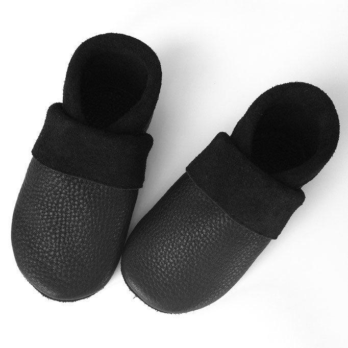 Krabbelschuhe Basic in schwarz
