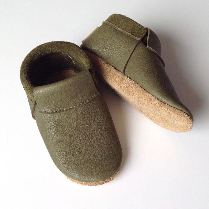 Mokassins CLASSIC in khaki & sandbeige