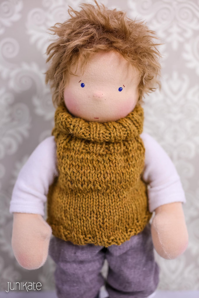 Perfect Frei Gestrickte Puppe Muster Embellishment - Decke Stricken ...
