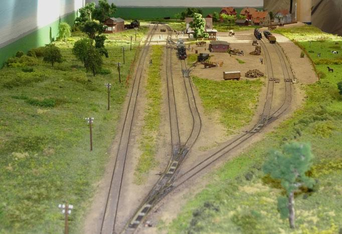Ronald Schulz war mit dem maßstäblichen Nachbau des Bahnhofs Klütz dabei.