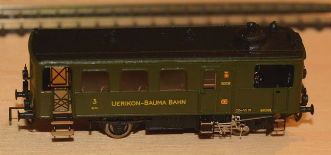 Der weitgehend fertige Museumswagen der Uerikon-Bauma-Bahn