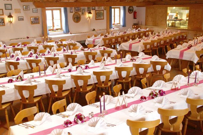 Heiraten mit bis zu 250 Gästen im Trachtenheim Irschenberg