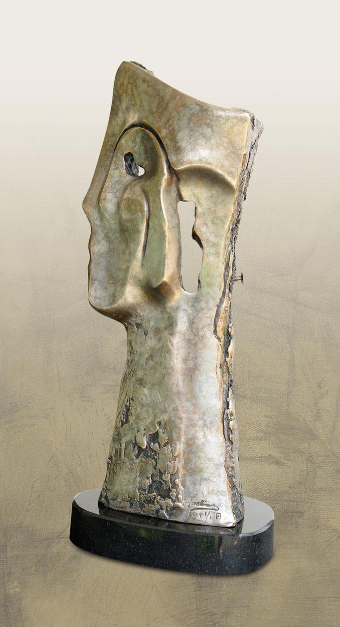 LES CLOUS DE LA MEMOIRE, Bronze -  14 X 9 X 37 cm