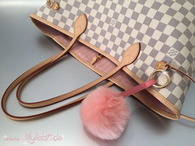 "Louis Vuitton Damier Azur Neverfull MM (Innenfutter ""Rose Ballerine"")"