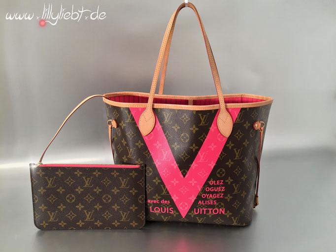 Louis Vuitton Monogram V Neverfull MM in Grenade