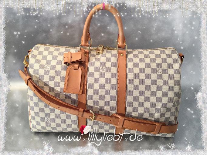 Louis Vuitton Damier Azur Keepall Bandouliere 45