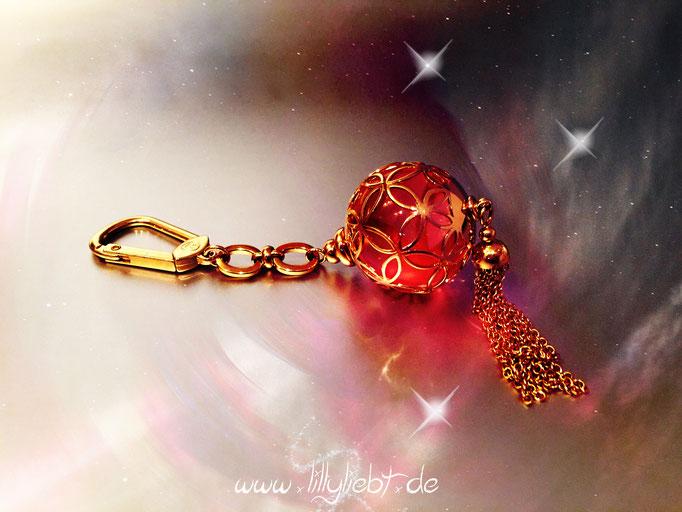 Louis Vuitton Iceball Taschenschmuck in Gold